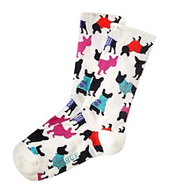HUE® Frenchy Roll Top Crew Socks