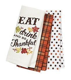 Chef's Quarters Three Pack Thankful Towel Set