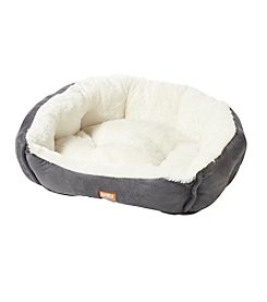 Animal Planet Grey Felt Round Pet Bed