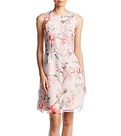 Ivanka Trump® Floral Overlay Dress