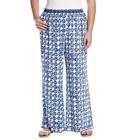 Cupio Plus Size Print Full Leg Pants