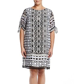 AGB® Plus Size Geo Printed Dress