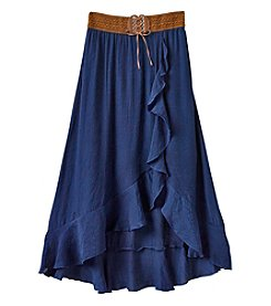 Amy Byer Girls' 7-16 Maxi Skirt With Belt