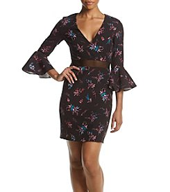 GUESS Printed Bell Sleeve Dress