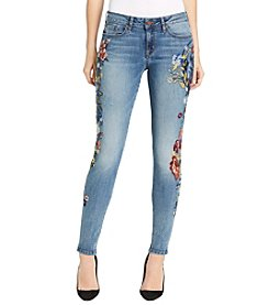 William Rast® Perfect Embroidered Skinny Jeans