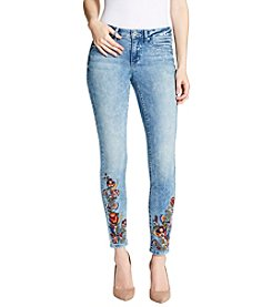 Jessica Simpson Kiss Me Embroidered Skinny Jeans