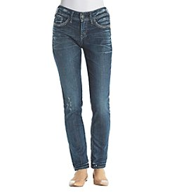 Silver Jeans Co. Suki Cuffed Ankle Slim Jeans