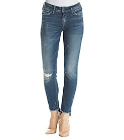 Silver Jeans Co. Calley Uneven Hem Ankle Jeans