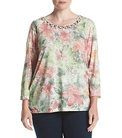 Alfred Dunner® Plus Size Botanical Gardens Floral Top