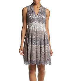 Vince Camuto® Lace Funnel Neck Dress