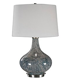 Uttermost Celinda Blue Grey Glass Table Lamp