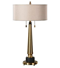 Uttermost Monroe Brushed Brass Lamp