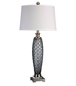Uttermost Lonia Grey Glass Lamp