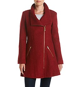 GUESS Asymmetrical Zip Fit And Flare Coat