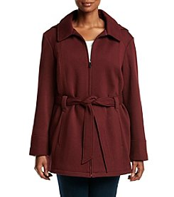 Jones New York® Plus Size Belt Fleece Jacket