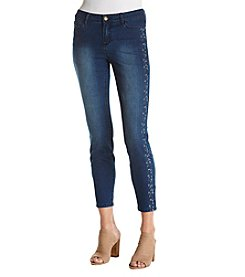 Relativity® Skinny Floral Embroidered Jeans