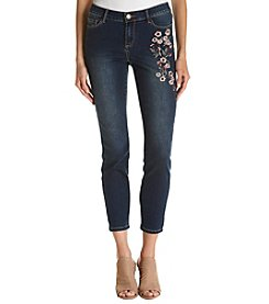 Relativity® Embroidered Skinny Jeans