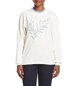 Morning Sun® Petites' Blue Harvest Fleece Sweatshirt