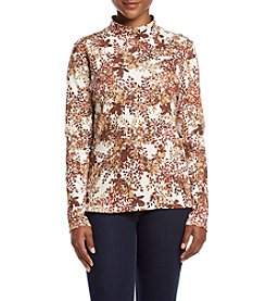 Studio Works® Petites' Printed Mock Neck Top