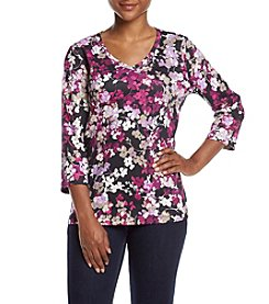 Studio Works® Petites' Printed V-neck Top