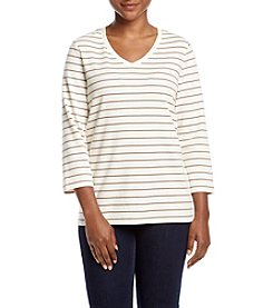 Studio Works® Petites' Striped Tee