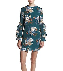 Be Bop® Floral Ruffle Sleeve Dress