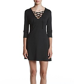 Be Bop® Lace Up Knit Dress