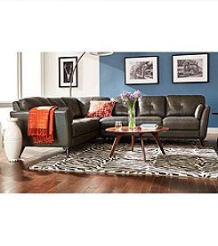 Chateau d'Ax Shelby Charcoal 2-Piece Sectional