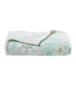 Living Quarters Snowflake Print Luxe Throw