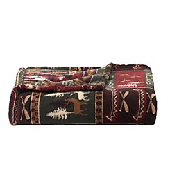 Living Quarters Micro Cozy Northwoods Print Throw