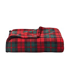 Living Quarters Micro Cozy Classic Red Plaid Print Throw