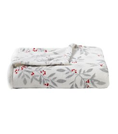 Living Quarters Micro Cozy Holiday Bayberry Print Throw