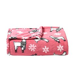 Living Quarters Micro Cozy Holiday Printed Throw