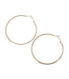 Relativity® Rose Goldtone Tube Hoop Earrings