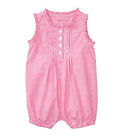 Ralph Lauren® Baby Girls' Poplin One Piece Romper