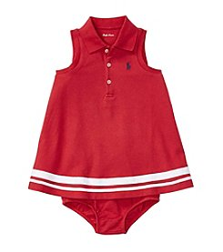 Ralph Lauren® Baby Girls' Nautical Mesh Dress And Bloomer