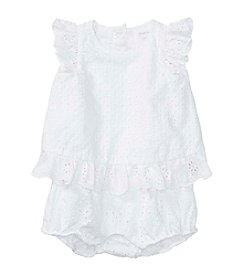 Ralph Lauren® Baby Girls' Eyelet Shortalls