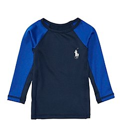 Ralph Lauren® Baby Boys' 9M-24M Long Sleeve Rashguard Swim Coverup