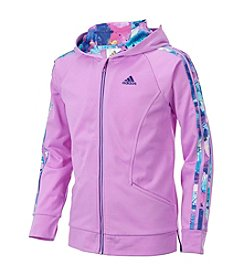 adidas Girls' 2T-6X Long Sleeve Hooded Tricot Jacket
