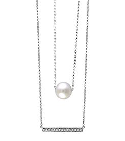 Effy® Diamond And Pearl Necklace