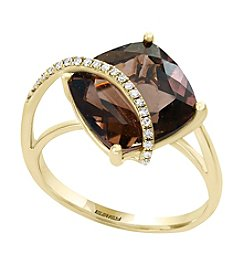 Effy® 14K Yellow Gold Smoky Quartz Ring