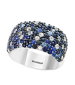 Effy® Sterling Silver Shades Of Sapphire Ring