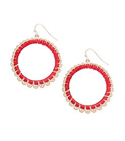 Robert Rose Thread Wrapped Hoop Earrings