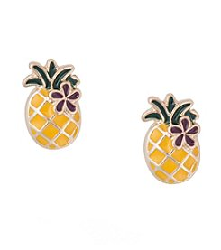Robert Rose Pineapple Earrings