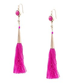 Robert Rose® Goldtone Tassel Earrings