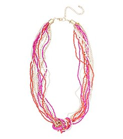 Robert Rose® Goldtone Mix Media Twist Necklace