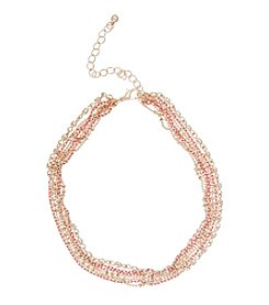 Robert Rose Linked Choker Necklace