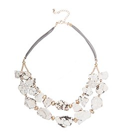 Robert Rose Howlite Stone Bib Necklace