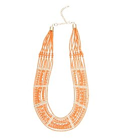 Robert Rose Layer Beaded Necklace