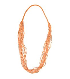 Robert Rose Long Multi Row Seed Bead Necklace